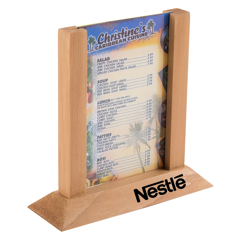 Wooden Table Tent Menu HoldersTable Tents - Wooden table tents